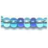 Ponybead 6/0 Blue Aqua Silver Lined Mix